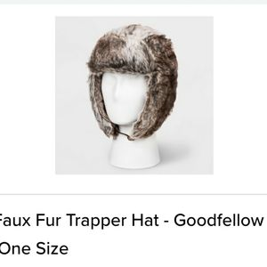 Goodfellow faux fur trapper hat brown